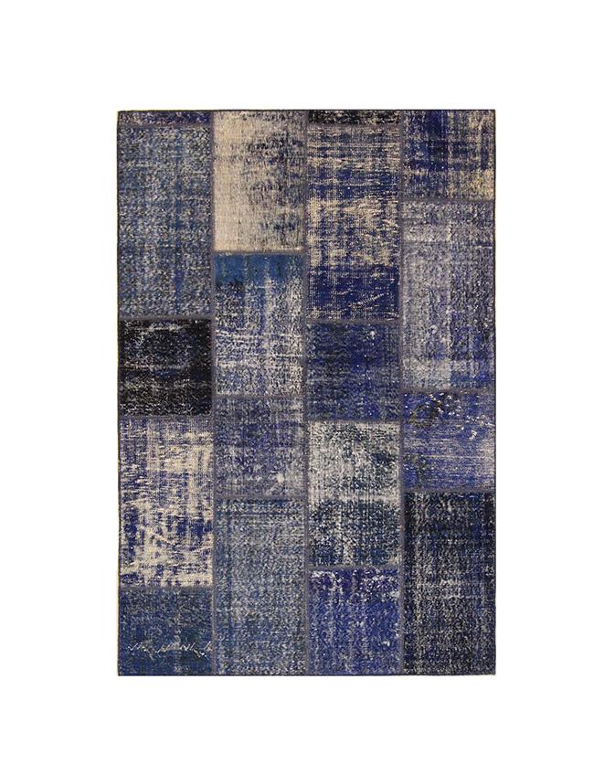 Alfombra Patchwork Azul Indigo