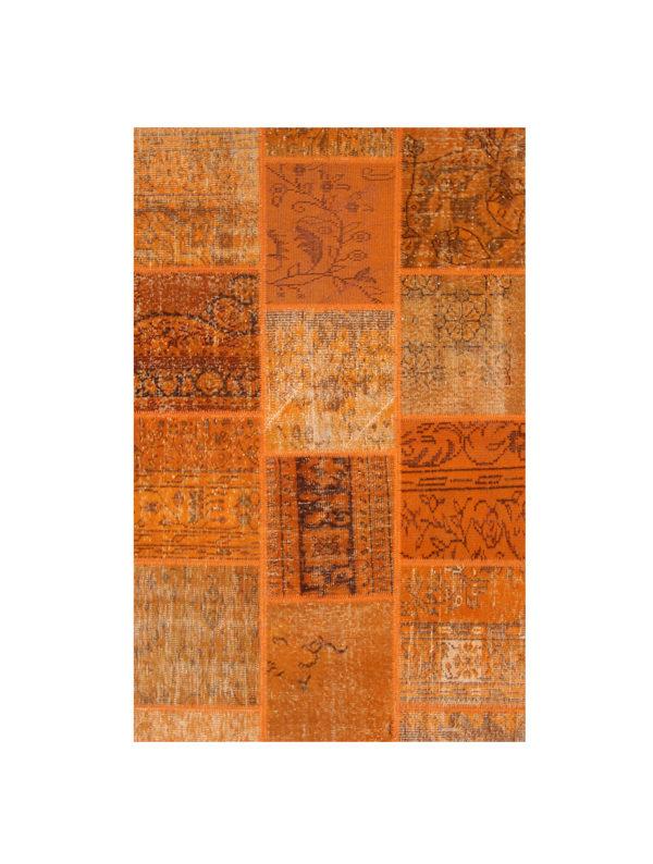 Alfombra Patchwork Color Naranja