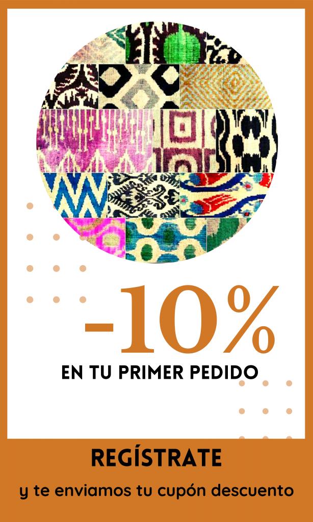 """""""Regístrate y obtén 10% de descuento"""""""